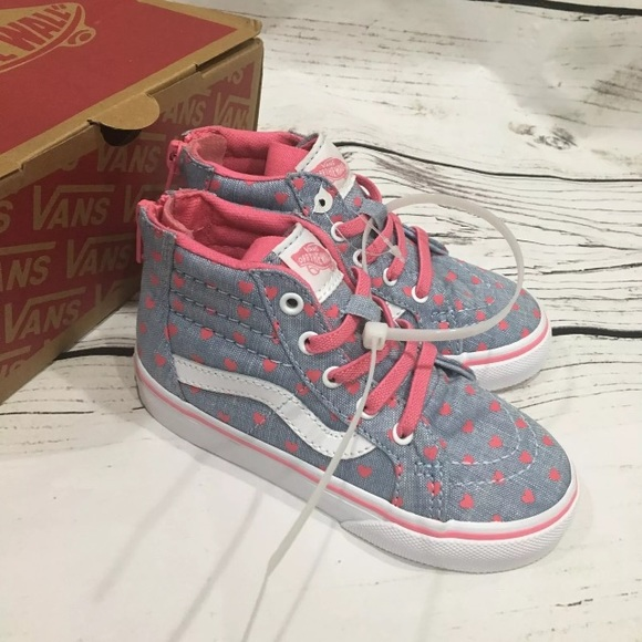 81a8fe712c VANS Girls Heart SK8 Hi Zip Up 8.5 Toddler